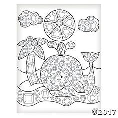This Jeweled Whale Template Is A Fun Kids Craft For All Ages Print And Use With Markers Or Crayons As Coloring Page Dive In Create Dazzling