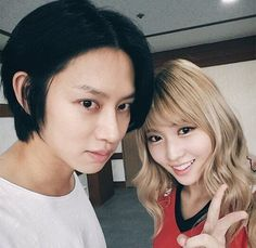 i'm sooooo hyped about them being a couple aaaaaaaaaaaaaa Korean Celebrity Couples, Kpop Couples, Korean Celebrities, Kpop Girl Groups, Kpop Girls, Momo Mina, Sana Momo, Kim Heechul, Korean Couple