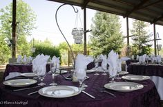 Purple Bling Reception Table