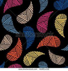 Seamless pattern of beautiful paisley cucumbers Turkish, Indian, Persian. Vector illustration