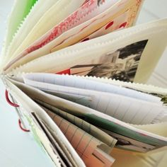 Baggy Book Project by Vanessa Spencer DIY & how to fold brown paper bag & bind