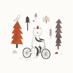The Little Wanderer print will be soon available in the shop! Adding the very last finishing touches to the project at the moment. Can't wait to share more with you! #holygalleryshop #littlewanderer #poster #bear #forest #bike #illustration #kids #homedecor #madeinfrance