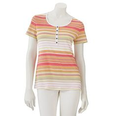 Croft and Barrow Striped Henley