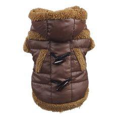Moda inverno de lã casaco de algodão quente trajes de roupas Pet gato filhote de cachorro XS / S / M / L / XL alishoppbrasil