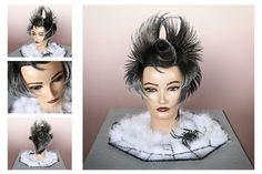 거미여인 Hair Painting, Balayage Hair, Halloween Face Makeup, Hairstyles, Crown, Artwork, Avant Garde, Stylish Hairstyles, Hair Makeup