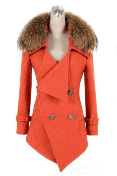 Black/Orange British Style Double-Breasted Wool Overcoat http://www.dressve.com/shop-11151174.html