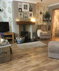 Want to Redecorate Your Living Room? Try These Simple Living Room Ideas. Want to Redecorate Your Living Room? Try These Simple Living Room Ideas. Simple Living Room, New Living Room, Home And Living, Log Burner Living Room, Modern Living, Small Living, Living Room Flooring, Cosy Living Room Grey, Living Room With Stove