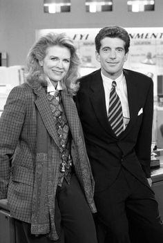 Candice Bergen and Walter Cronkite in Murphy Brown (1988)