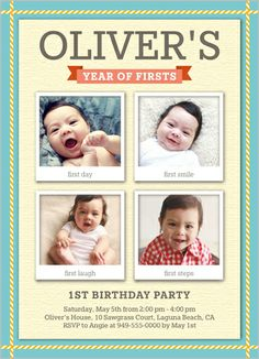 107 Best Baby Boy S 1st Birthday Invitations Images Baby Boy 1st