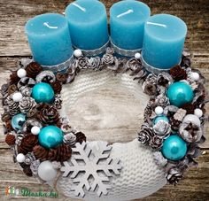 Stunning Christmas Sweater Wreath Advent Candles Decoration Ideas - Page 13 of 55 - Chic Hostess, Advent Wreath Candles, Christmas Advent Wreath, Christmas Swags, Xmas Wreaths, Christmas Candles, Christmas Crafts, Candle Centerpieces For Home, Christmas Centerpieces, Christmas Tree Decorations