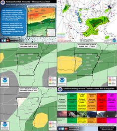 - says For LR & Central Arkansas This Afternoon: An Isolated Stray Shower Or T'Storm.. Otherwise..Partly Cloudy & Warm. Hi 85. Tonight Thru Sat Ngt: Sct'd To Num. Showers & T'Storms. A Few Strong To Severe With Damaging Wind, Larger Hail & An Isolated Tornado Or 2 At Times. Lo 66. Hi Fri 79 & Lo 63. Hi Sat 69 & Lo 48. Sunday Thru Wednesday: Sunny Days & Mostly Clear Nights. Hi Sun 68 & Lo 48. Hi Mon 76 & Lo 52. Hi Tue 79 & Lo 59. Hi Wed 82. Updates: http://www.weather4ar.org/ - DCP2