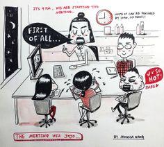 """上Behance一本漫畫書""""工作@一位堅強廣告公司"""""""