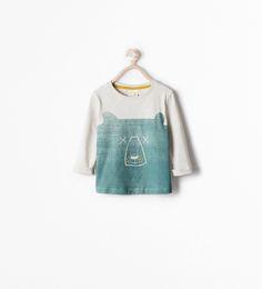 Image 1 de T-shirt à imprimé ours de Zara