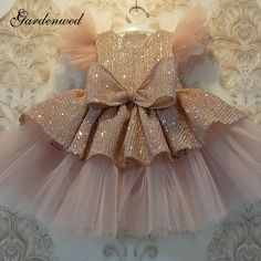Baby Girl Birthday Dress, Baby Girl Party Dresses, Dresses Kids Girl, Birthday Dresses, Sequin Flower Girl Dress, Cheap Flower Girl Dresses, Flower Girls, Baby Tulle Dress, Prom Dress