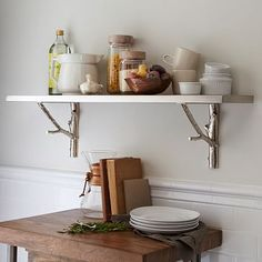 A closer look at shelf brackets and their different designs - Decoration Ideas Furniture Sale, Modern Furniture, Stainless Steel Shelving, Pine Shelves, Floating Shelves, Living Room Bookcase, Wall Mirror With Shelf, Baby Changing Tables, Modern Bookcase