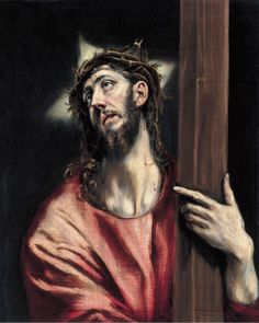 El Greco Christ with the Cross ca. 1587-96 Oil on canvas. 66 x 52.5 cm Museo Thyssen-Bornemisza, Madrid