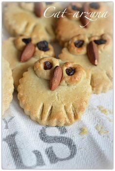Cat-arzyna: Umilacze shortbread cookis shaped like owls so cute!