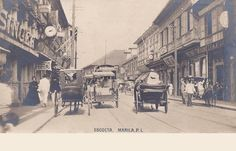 Pinoy Kollektor: ESCOLTA at the turn-of-the-century. A postcard collection Philippines Culture, Manila Philippines, Filipiniana, Pinoy, Vintage Pictures, Cool Photos, Interesting Photos, Nostalgia, Scenery