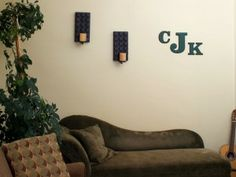 Custom made craft products....Just bought a big 'A' for the wall. cute site.