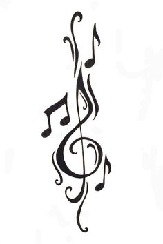 Cleft note with music notes Free Designs Music Notes Tattoo Wallpaper Zimg Winged Music Tattoo Designs, Music Tattoos, Body Art Tattoos, Small Tattoos, Sleeve Tattoos, Cool Tattoos, Tatoos, Music Designs, Arm Tattoos