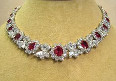 Ruby and Diamond Necklace - 30.77cttw Rubies - 55.52cttw Diamonds
