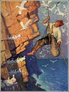 Newell Convers (N.C) Wyeth Tam On The Craig Face Oil on canvas x cm x Jamie Wyeth, Andrew Wyeth, Traditional Paintings, Traditional Art, Illustrations, Illustration Art, American Illustration, Nc Wyeth, Howard Pyle