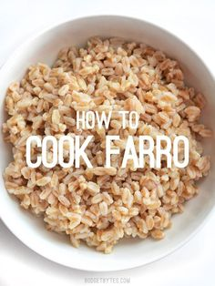 How to Cook Farro – Budget Bytes This short tutorial takes you through the basics of how to cook farro, plus a few facts about this versatile, chewy, and flavorful grain. Couscous, Farro Salad, Farro Rice, Farro Recipes, Vegetarian Recipes, Healthy Recipes, Healthy Foods, Millet Recipes, Healthy Eating