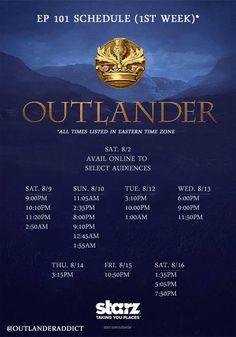 Starz Outlander schedule
