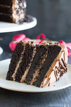 Dark and rich, this Dark Chocolate Cake with Nutella Buttercream is the perfect centerpiece for your Halloween party. Chocolate lovers will instantly fall in love with this dark chocolate cake! Nutella Recipes, Cake Recipes, Dessert Recipes, Dessert Ideas, Yummy Treats, Sweet Treats, Yummy Food, Cupcakes, Cupcake Cakes