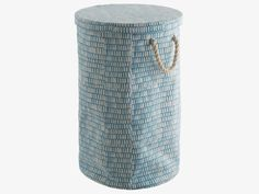 FIRTH BLUES Fabric Blue printed canvas laundry bin - HabitatUK