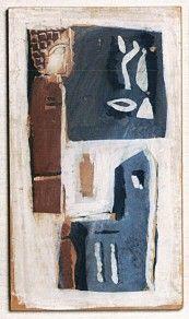 Mario Sironi - Composizione, Tempera su carta riportata su tavola, cm 44x25