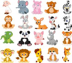 Vector illustration of Cartoon animals collection set Jungle Theme Classroom, Classroom Themes, Cartoon Cartoon, Rare Animals, Animals And Pets, Safari Animals, Cute Animal Illustration, Safari Theme, Drawing For Kids