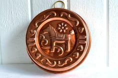 Copper mold Dala horse vintage Swedish Nils by GrannyHannasCottage