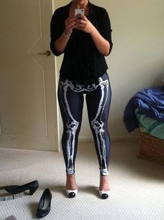 Black Milk Leg bones Leggings. That is exactly how I would look in those. Thick. HA.