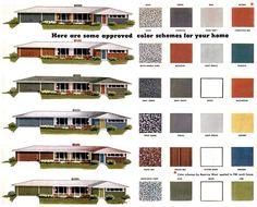 Modern Exterior Paint Colors For Houses | Pinterest | Mid century ...