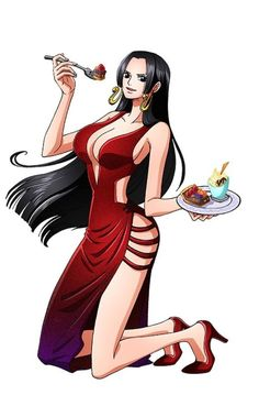 One Piece - Boa Hancock One Piece Manga, One Piece Series, One Piece Drawing, Nami One Piece, One Piece Fanart, One Piece Dress, One Piece Cosplay, One Piece Pictures, One Piece Images