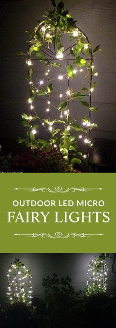 Add a little magic to your garden with these battery-powered LED fairy lights. Easy to install, no outlets required, and can be set on a timer!