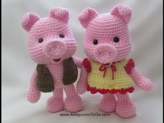 written pattern here http://www.amigurumitogo.com/2014/06/pig-pattern.html Patterns translated into Spanish here http://www.amigurumitogo.com/p/complete-list...