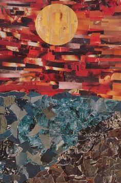 a faithful attempt website: collages made of magazine strips, foreground, background, middle ground. For 6th grade
