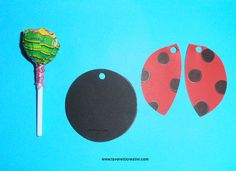 Ideas for welcoming children - Ladybug with chupa chups Ladybug Crafts, Ladybug Party, Butterfly Crafts, Valentine Crafts, Easter Crafts, Valentines, Lollipop Decorations, Birthday Decorations, Diy And Crafts