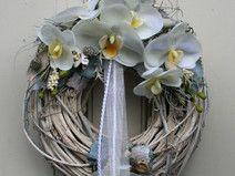 Türkranz Kranz Shabby Chic weiße Orchideen 27 cm