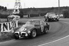 Alfa Romeo 6C 3000 CM Colli Coupe, Le Mans 1953. # 23 Karl Kling (D) / Fritz Riess (D). The other Alfa Roméo # 22 is Juan Manuel Fangio (RA) / Onofre Marimón (RA). Car # 22 was later sold to Jo Bonnier, Sweden.