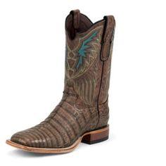 Tony Lama Mens Sq Vintage Caiman Belly Boot 8D: Tony Lama Mens Square Toe Vintage Caiman Belly… #Horse #Horses #Pets #Equestrian #Rider