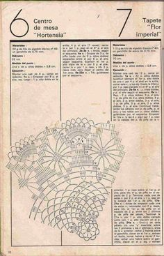 """Patrón #161: Centro de Mesa """"Hortensia"""" y Tapete """"Flor Imperial"""" ~ CTejidas [Crochet y Dos Agujas]"""