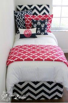 Pink & Navy Nautical Designer Bed In A Bag Set