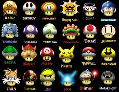 The other types of Mario Mushrooms that didn't make it into the game (click image for even more)