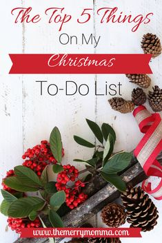 In the hustle and bustle of the holiday season, find out what 5 things have risen to the status of non-negotiables on my Christmas to-do list!