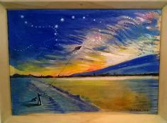 Waves, Stars, Painting, Outdoor, Outdoors, Painting Art, Paintings, Outdoor Games, Star