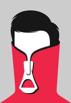 Shy Guy, by Noma Bar