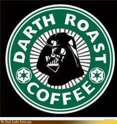 Darth Vader Starbucks logo